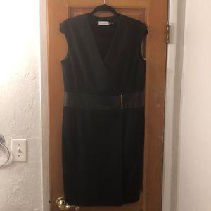 Black Calvin Klein cocktail dress